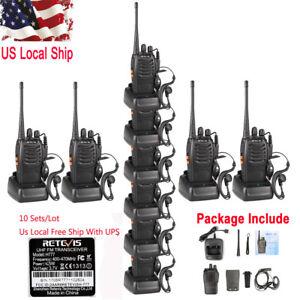 10X-Retevis-H777-Walkie-Talkie-5W-CTCSS-DCS-UHF400-470MHz-16CH-FM-2-Way-Radio-US