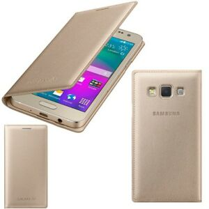the latest 14df9 93a73 Details about Genuine Samsung FLIP CASE GALAXY A3 SM A300FU smart phone  cover original wallet
