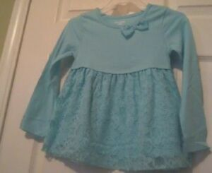 Clothing, Shoes & Accessories Rational Girl's Baby Doll Green Ruffle Tee Size 4t Street Price
