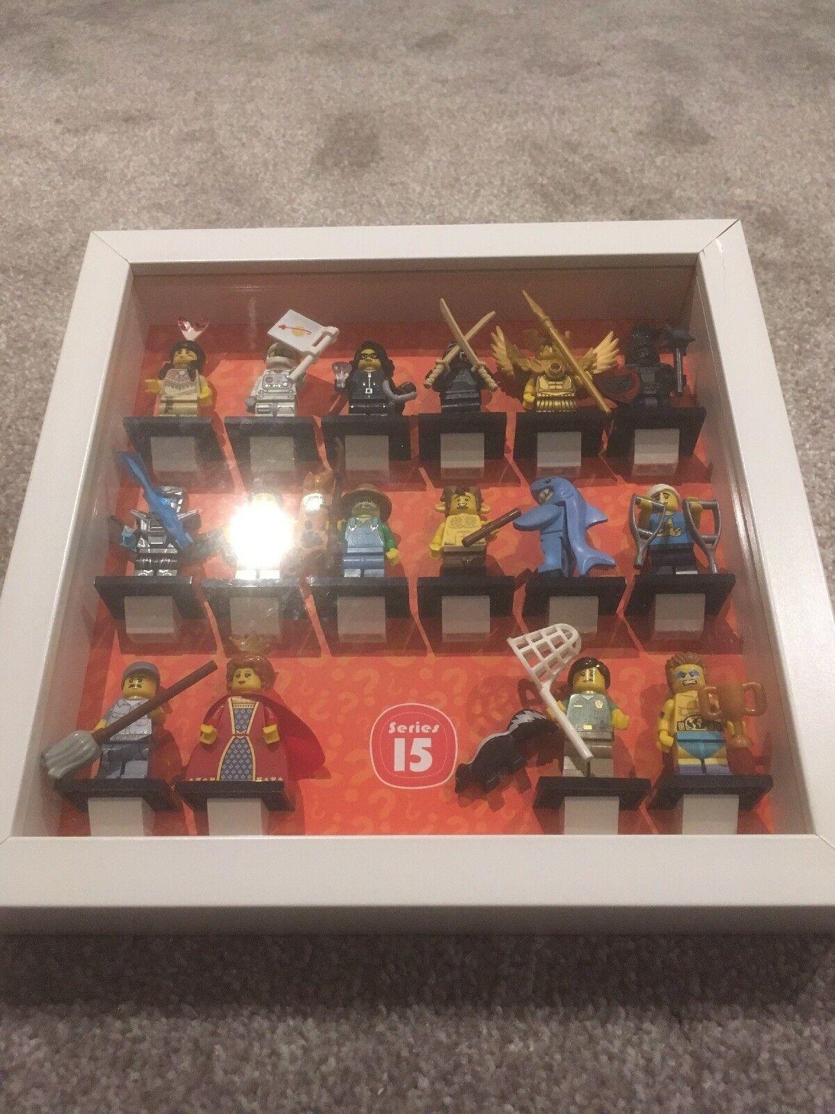 Lego minifigures reihe 15 komplett vom hervorragenden zustand im rahmen