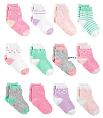 Simple Joys By Carters Baby Girl 12-Pack Pink//Purple//Mint Socks Size 6-12M