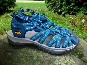 promo code 21cde ed100 Details about New Women's Keen Whisper Poseidon Blue Danube Sport Hiking  Sandals 7M EU 37.5