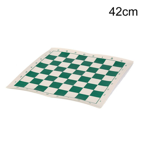 42cm x 42cm chess board for children/'s educational games green /& white colorHGHC