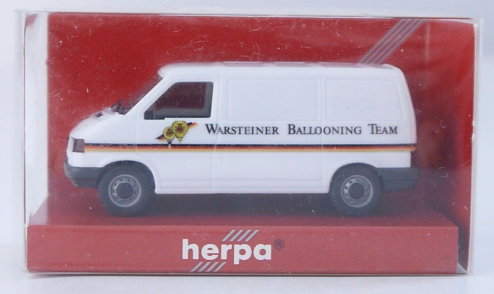 Herpa 045728 Vw T4 Kasten Warsteiner Ballooning Team