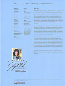 #1814 (50c) Forever Sally Ride #5283 Souvenir Page