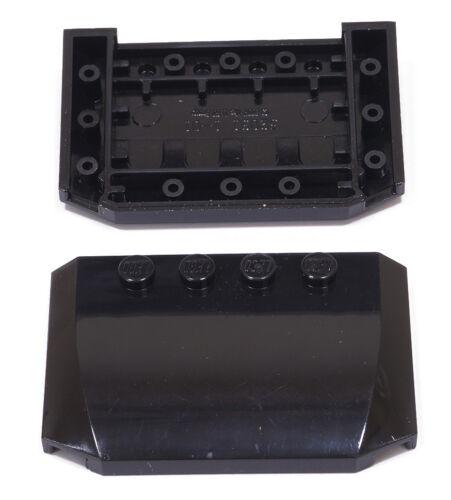 LEGO -  2 x Autodach 4x6x2/3 schwarz / Motorhaube / Dach / Wedge / 52031 NEUWARE