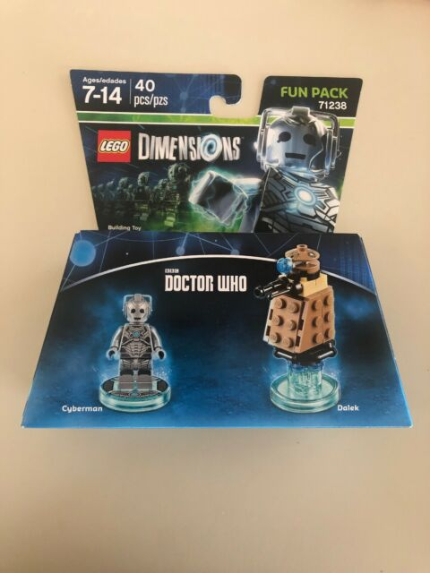 LEGO Dimensions 71238 Doctor Who Fun Pack Cyberman Minifigure Dalek New Sealed