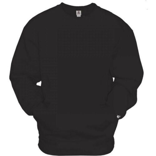 Badger Men/'s Crew Neck Pullover with Pouch Pocket