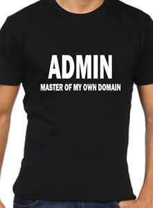 Admin Mens Funny T Shirt Geek Computer Science Network Computing Ebay