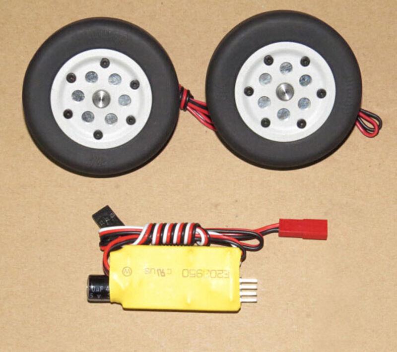 Juego de ruedas de freno JP 60mm un avión de ala fija para radio control modelo 4.0MM parte Diámetro del eje