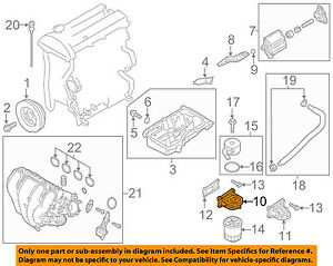 details about mazda oem 10 12 cx 7 engine oil filter housing l31114311a 2012 Mazda CX-9