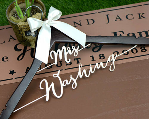 Personalized Wedding Hanger with Date Bride Bridesmaid Wedding Dress Hanger L023