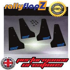 miniflapZ SUBARU IMPREZA (01-07) Splash Guards Qty4 Black (Sky Blue STi) 3mm PVC