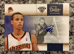 Details About 2009 10 Panini Studio Stephen Curry Rookie Card 172199 Auto