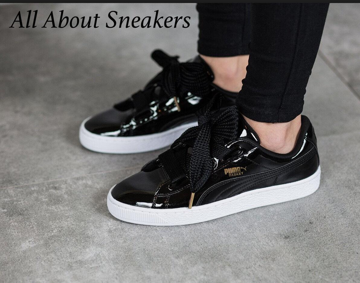 c59344979507 Puma Puma Puma Basket Heart Patent -Black-Black -Women Shoes Limited One  363073 01 YOGI 3a464c