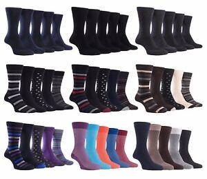 Farah-5-Confezione-Da-Uomo-Sottile-Soft-Top-con-motivo-colorato-cotone-Casual-Vestito-Calzini