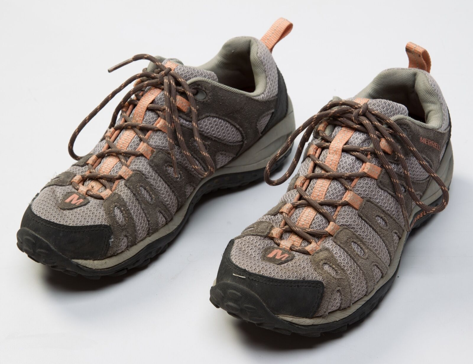 Women's Merrell Hiking Trail Shoes Size US7 US 7 Leather Depart Dark Gull Grey
