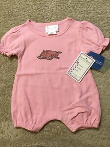 d707d6fc0 TWO FEET AHEAD Arkansas Razorbacls Pink One Piece Outfit. Size 12 ...