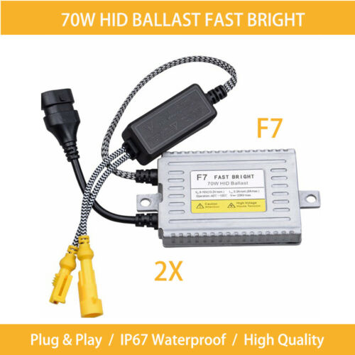 2X F7 70W HID Xenon Ballast Slim Fast Bright Quick Start H7 H11 Digital 12V IP67