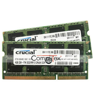 New-8G-2x4GB-DDR3-PC3-8500-1066MHz-MacBook-Pro-17-034-Early-Late-2011-A1297-Memory