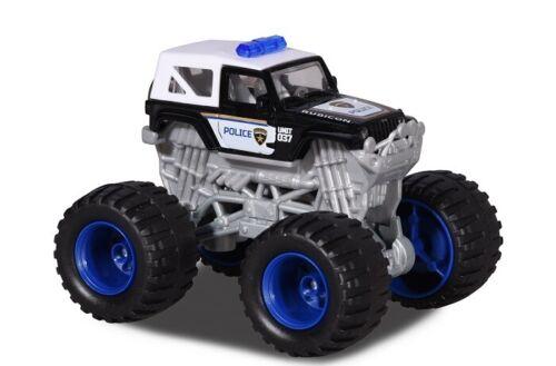 MAJORETTE 212057256-Monstre Rockerz-Jeep Wrangler Rubicon-POLICE-Neuf