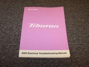 2005 Hyundai Tiburon Coupe Electrical Wiring Diagram Manual Gs Gt Se 2 0l 2 7l Ebay