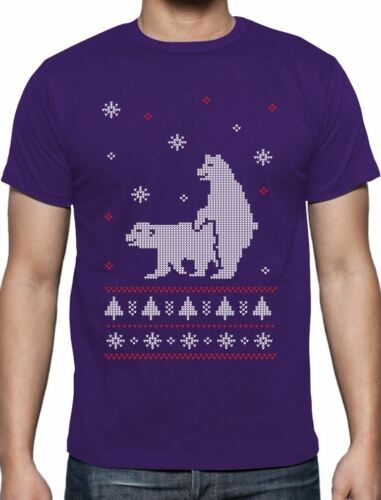 Humping Polar Bears Ugly Christmas Sweater Funny T-Shirt Xmas