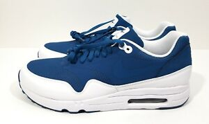 ad32be94f50 Nike Air Max 1 Ultra 2.0 Essential Mens Running Shoes Blue White ...