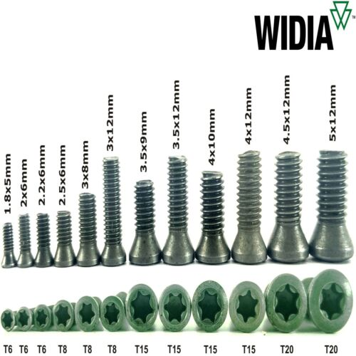 LOT OF 40 TORX SCREWS WIDIA M1.8X5mm SCREW FOR INDEXABLE INSERT
