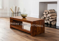 Contemporary  Wooden coffee center table with bottm shelf  !