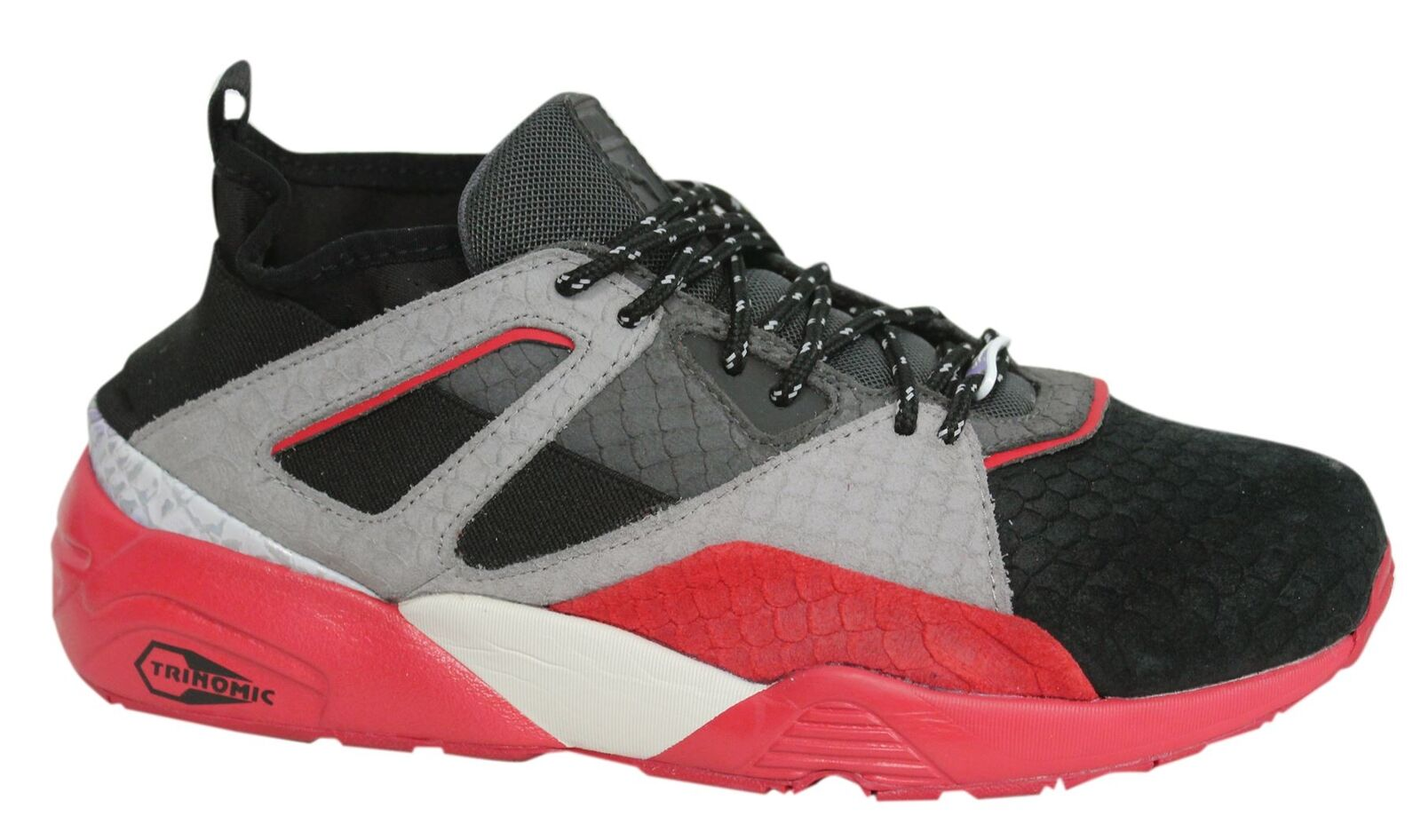 Puma cordon Bog Sock Rioja hombre cordon Puma negro gris rojo formadores 361456 03 D12 254c25