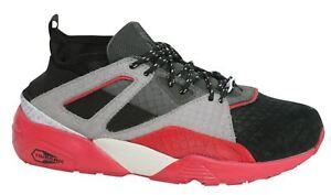 Puma PALUDE Calze RIOJA uomo con lacci nero grigio scarpe da ginnastica rosse