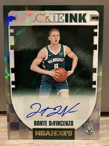 2018-19 NBA Hoops Donte Divincenzo Rookie Ink Auto RC Autograph Milwaukee Bucks