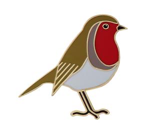 Robin Pin Badge