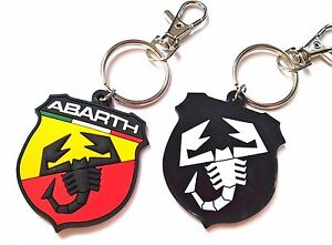 Abarth keyring Fiat 500 Grande Punto Evo PVC high quality key chain