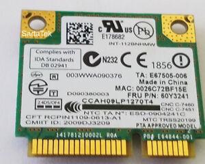 HP-572520-001-Intel-WiFi-Link-1000-112BNHMW-bgn-PCIe-Half-60Y3240-60Y3241