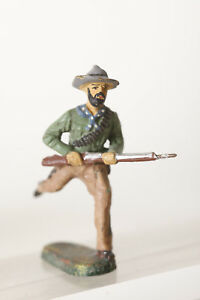 068 Hausser Rennender Cowboy Mit Gewehr Vorkriegsmodell Ehrlich Elastolin