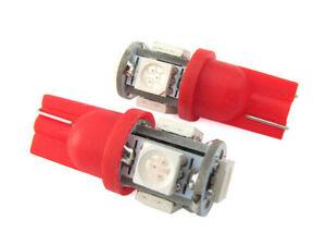 1 LUCE DI POSIZIONE LED ROSSO T10 SMD 5050 lampadina auto 6000K 12V W5W rossa