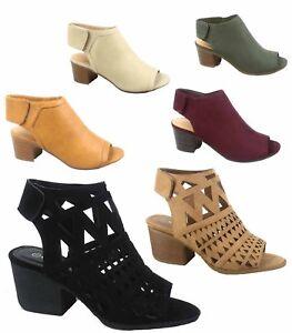 Women-039-s-Cute-Fashion-Peep-Toe-Low-Chunky-Heel-Sandals-Shoes-Size-5-5-11-NEW
