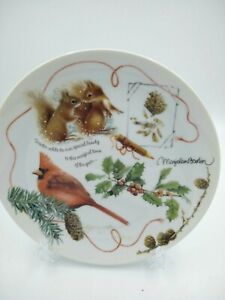 "1995 Retired Hallmark ""Winter Cardinal"" Collector's Plate Marjolein Bastin"