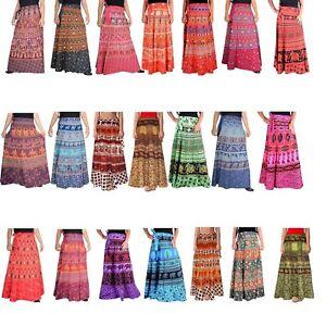 5-PC-Lot-Indian-Women-Long-Skirts-Cotton-Bohemian-Gypsy-Hippie-Summer-Boho-skirt