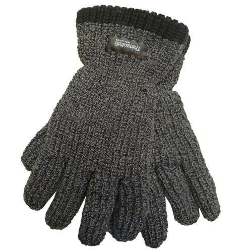 ProClimate Adultes Bonnet /& Gants Thinsulate à grosses mailles côtelée Vente Final