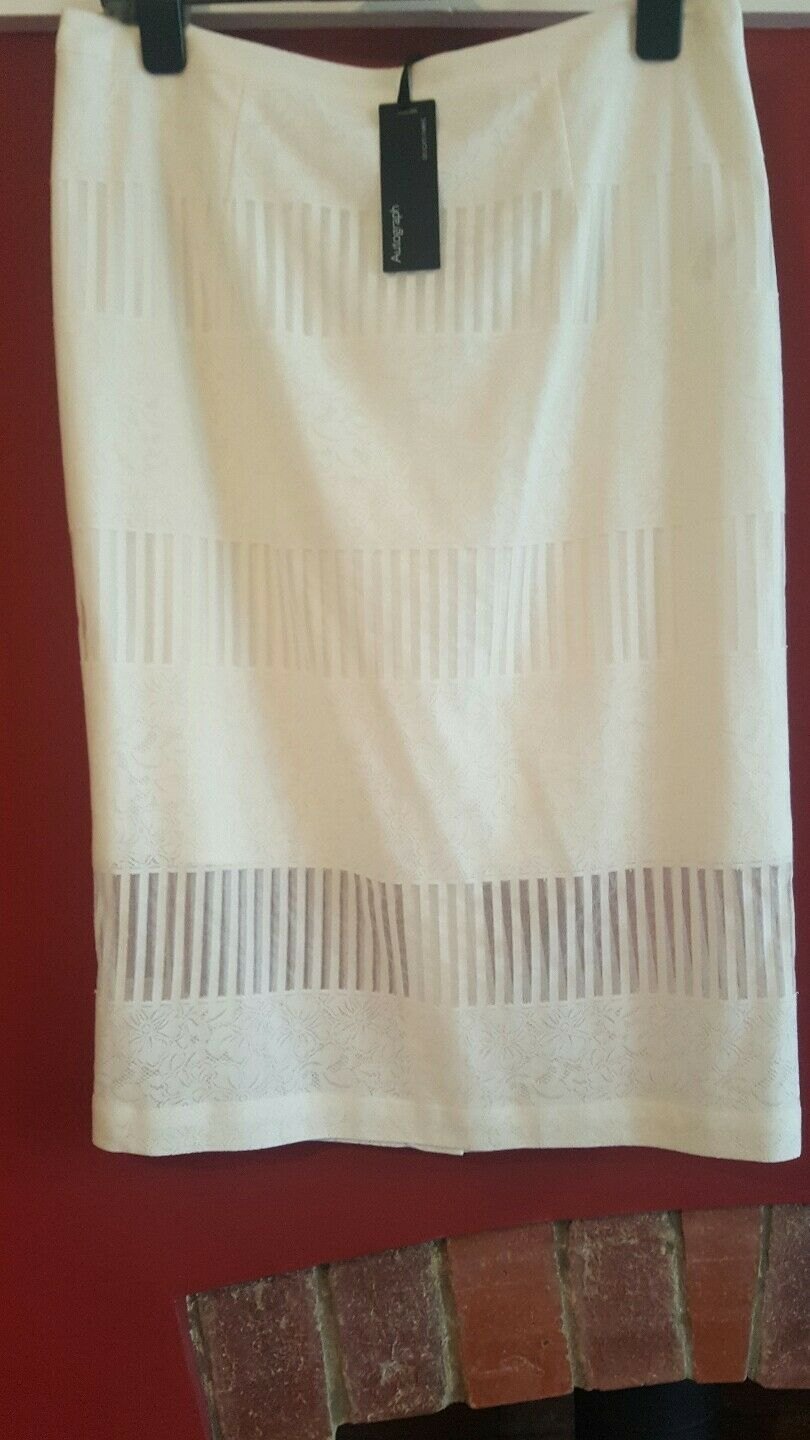 NEW Autograph skirt soft white cream ivory size 14 length 27 ins 70 cm Cost