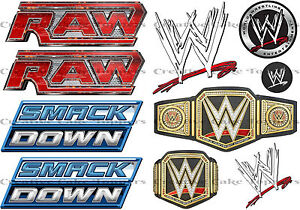 Wrestling Ring Smackdown Raw Logo WWE Edible Icing Sheet Birthday