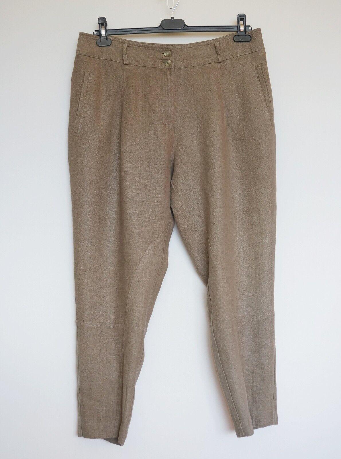 Ivan Grundahl 100% Linen Beige Trousers, Size 42