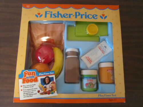 Fisher Price Fun with Food Playtime Set Shopping Pudding Fruit Mint in Box
