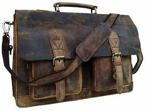 a1d8758a54 Image is loading Leather-Laptop-Messenger-Bag-Office-Classy-15-034-