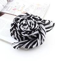 Women zebra animal print pashmina long scarf stole wrap Shawl Cape Stripe Print