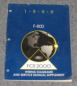 1999 Ford F-800 Truck diagramas de fiação E Manual De Serviço Suplemento    eBay   Ford F 800 Truck Wiring Diagrams      eBay