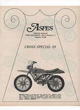 Pubblicità 1970 MOTO MOTOR ASPES CROSS SPECIAL advert werbung publicitè reklame